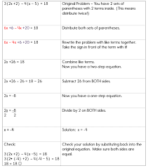 distributive property when solving equations