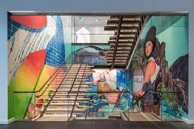 photo 1 of 12 in art and design come together in these 10 examples of inspirational wall murals dwell on dwell abstract wall art with photo 1 of 12 in art and design come together in these 10 examples