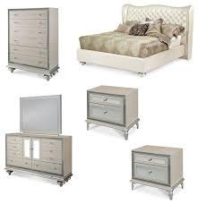 Hollywood Swank 6-Piece Platform Bedroom Set, Creamy Pearl ...