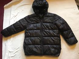 h m las puffy jacket size 12 used black 4