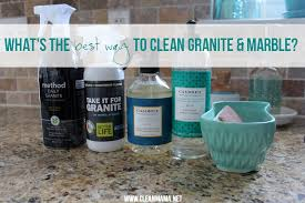 what s the best way to clean granite and marble via clean mama