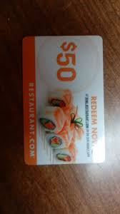 restaurant gift cards 1 of 1only 1 available