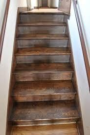 Dark Walnut Stain On Pine Pine Stairs stain Dark All City