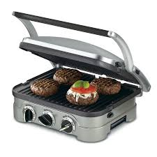 Non Stick Kitchen Appliances Shop Cuisinart 13 In L X 11 In W Non Stick Contact Grill At Lowescom