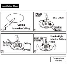 Install Recessed Lighting Remodel 15watt 5 Inch Dimmable Retrofit Led Recessed Light Torchstar