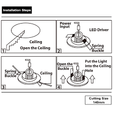 recessed light installation instruction lightbox moreview