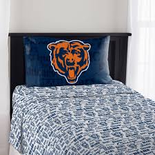 nfl chicago bears anthem sheet set twin sports football fan new bed