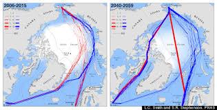 Polar Routes Charts Trans Arctic Shipping May Have Future Through Supra Polar