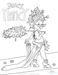 free fancy nancy coloring page for kids to color from the new disney jr show