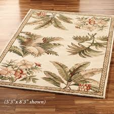 tropical area rugs. Tropical Retreat Area Rug Ivory Rugs A