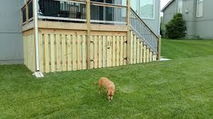Deck Designs With Storage Underneath Fence Under Deck Storage Shadow Box Fence Deck Apron