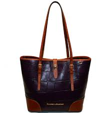dooney bourke dover tote croco emb leather exclusive bag nwt pretty plum wine