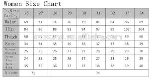 Waist Size Chart For Women S Jeans Source Lady Knitted Jean Garments Factory Skinny Jeans For