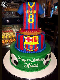 Barcelona Football Cake 12800 French Bakery Shop Online Dubai