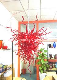 c42 wholesale hand blown glass fancy chandelier modern hanging crystal pendant lamps italian design handmade blown glass red chandelier chandelier modern italy blown glass