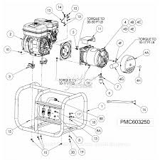 powermate formerly coleman pmc603250 parts diagram for generator parts mecc alte sr7 wiring diagram at Mecc Alte Generator Wiring Diagram
