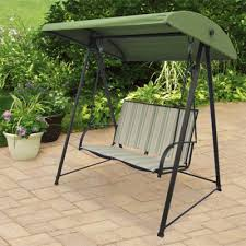 outdoor 2 person canopy swing backyard seat chair metal patio furniture porch