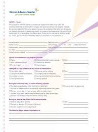Birth Plan Inspiration Birth Plan Worksheet SheKnows