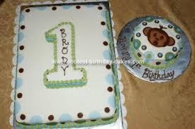 Cool Homemade First Birthday Cake With Monkey Smash Cake