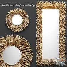 seaside mirror by creative co op