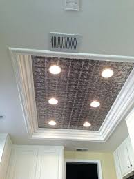 diy ceiling light box use metal panel to hide where old light was master bathroom kitchen diy ceiling light box