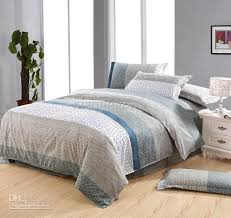 White Blue Gray Brown Gray Stone Flower Cotton Queen Size Duvet ... & White Blue Gray Brown Gray Stone Flower Cotton Queen Size Duvet Quilt Doona  Cover Bed Set Sheet Duvet Cover Queen Duvet Covers Online From Xiaojing666,  ... Adamdwight.com