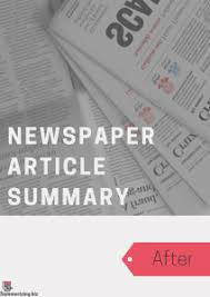 Newspaper Article Summary Template Use Our Newspaper Article Summary Example As A Guide