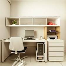 small office interior design. Awesome Design Of The Home Office Ideas With White Wooden Shelves And Storage Small Interior