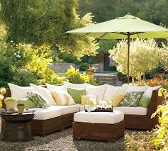 view in gallery palmetto all weather wicker sectional by pottery barn