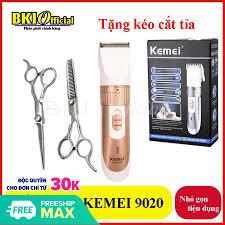 Tông đơ cắt tóc kemei 9020 tặng kéo cắt kéo tỉa