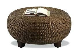 seagrass ottoman coffee table fabulous round wicker ottoman coffee table coffee table wicker coffee table ottoman
