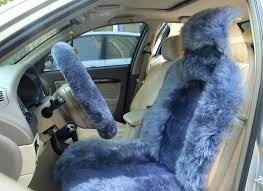 car seat sheepskin car seat covers cover elite long wool bluish gray
