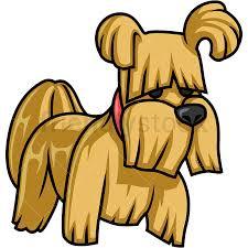adorable small dog cartoon