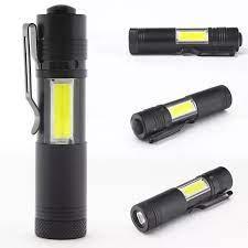 Đèn Pin LED Bỏ Túi 20000 Lumens Với Clip COB Đèn Pin 4 Chế Độ Torch