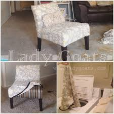 lady goats diy slipper chair slipcover without a template armless dining covers was