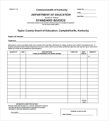 Sample Standard Invoice Template 8 Download Free Documents In Pdf
