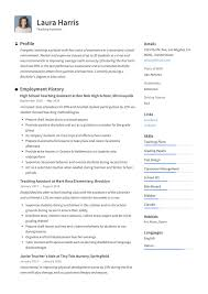 Teaching Resume Template Free Download Good For Teacher Job