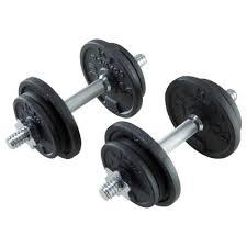 Набор <b>гантелей</b> для силовых тренировок 20 кг DOMYOS - купить ...