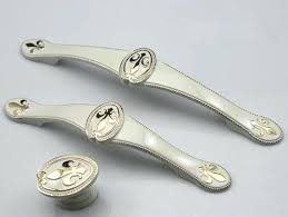Feather Drawer Pull Pulls And Knobs With 3 5 Dresser Handles White  Gold Shabby Chic43