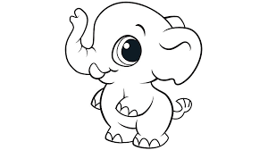 Learning Friends Elephant Coloring Printable
