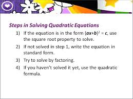 solving quadratic equations by factoring steps math steps in solving quadratic equations math solver picture