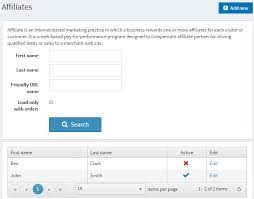 Affiliates - Documentation (English) - nopCommerce documentation
