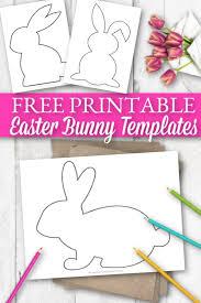 free printable easter bunny templates