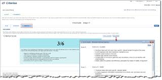 response and results once the essay has been submitted criterion provides students a criterion score analysis and feedback the score guide is available on the right side
