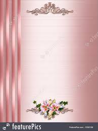 wedding invitation border pink satin ilration decorative borders decoratingspecial border design clipart