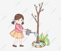 Hình ảnh Hình Minh Họa Nhân Vật Arbor Day Tưới Nước Cho Bé Gái Lá Xanh  Trang Trí Cây, Cô Gái Nhỏ, Minh Họa Nhân Vật Ngày Arbor, Cô Bé Tưới Nước
