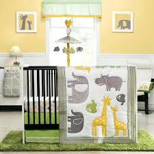 green and yellow nursery ideas zoo animals 4 piece baby crib bedding set by carters nursery