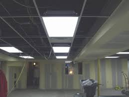 installing false ceiling drop ductwork under with exposed suspended sy how to install drop ceiling