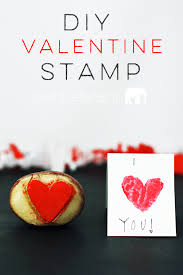 make your own valentine stamp diy valentine