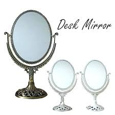 table top mirror with storage tabletop vanity lights on stand cute desktop antique retro dressing this